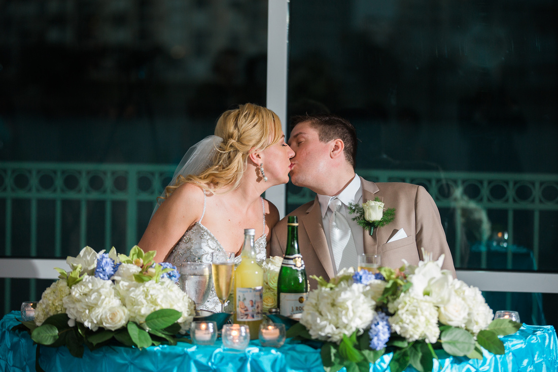 Destination wedding reception in Tampa