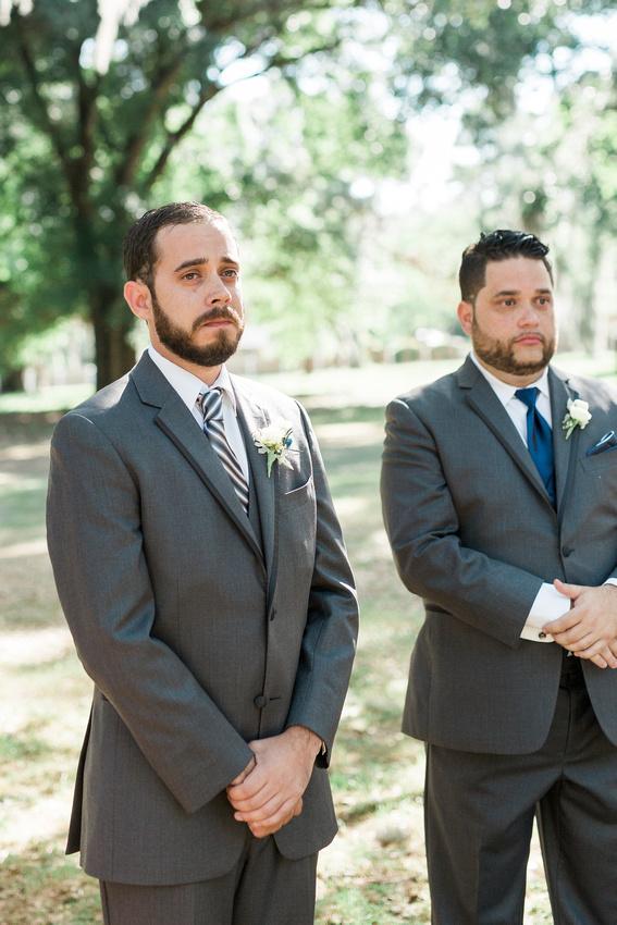 Wedding ceremony at Casa Lantana. Tampa Wedding Photographer.