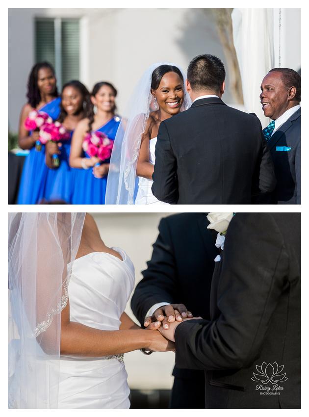 A wedding ceremony at the Palmetto Club at Fishhawk Ranch in Lithia, FL.