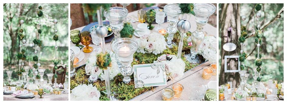 Wedding guest tablescape decor at Casa Lantana.