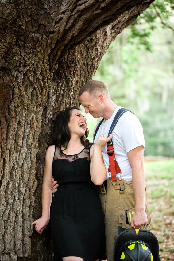 Tampa Engagement Photo Session, Tampa Wedding Photographer, fun loving outdoor engagement photos with adorable dog