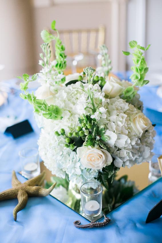 Hunter's green wedding reception. Tampa wedding photographer. Classic wedding details.