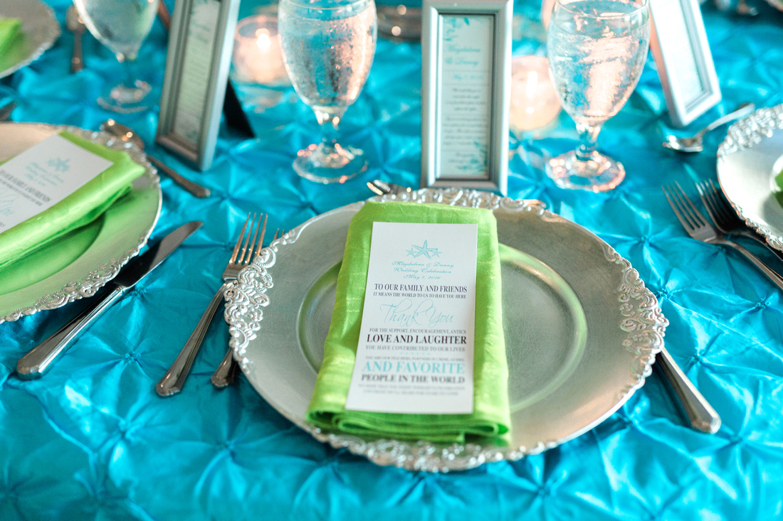 Beachside destination wedding in Tampa. Colorful details and decor.