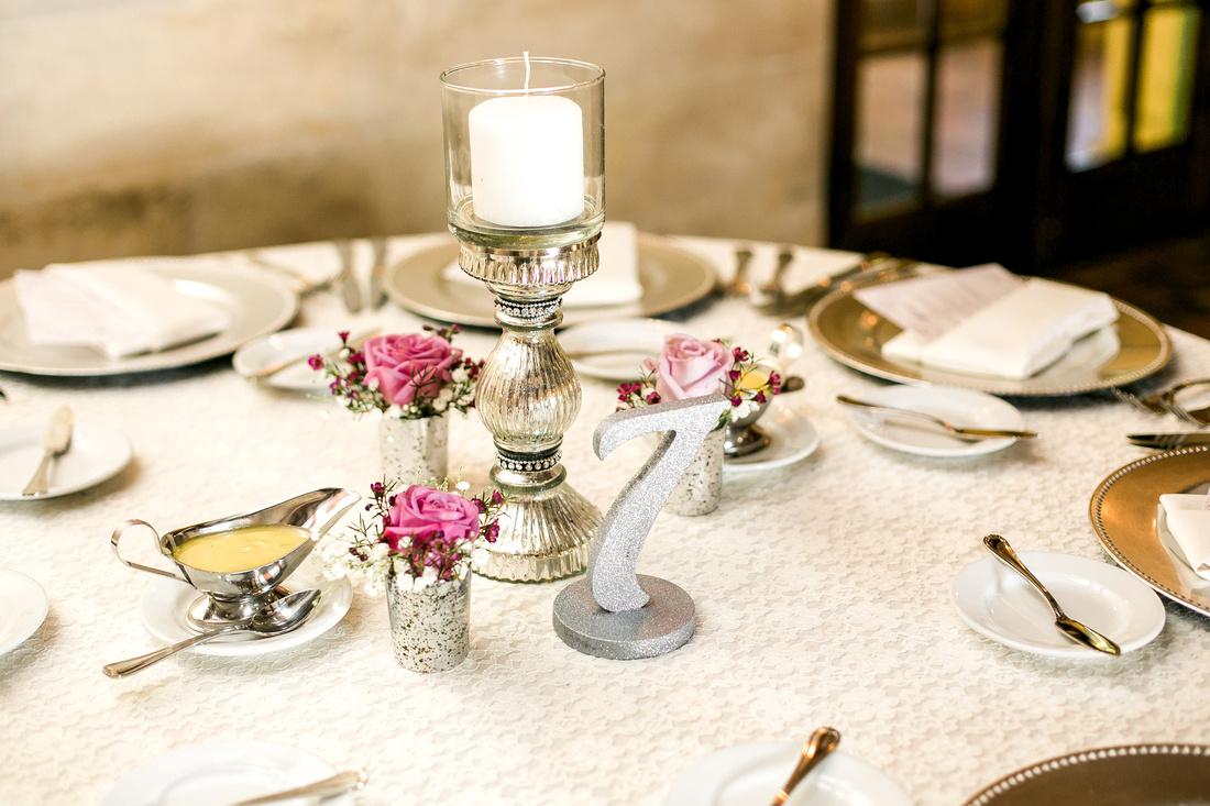 Purple Bouquet. Powel Crosley Estate wedding. Tampa wedding photographer. Wedding reception details. Outdoor wedding ceremony.
