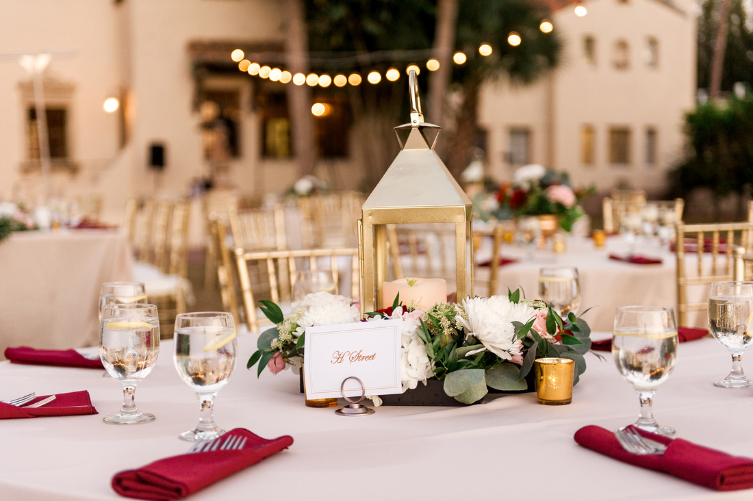 Powel Crosley Estate wedding. burgundy, pink and white wedding decor. Tampa wedding photographer.