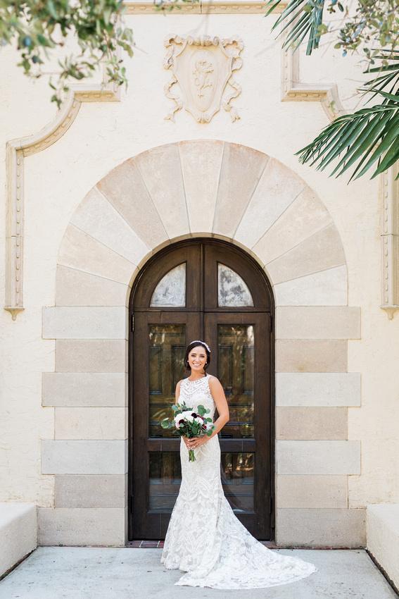 Bridal portraits at Tampa Wedding Venue, Powel Crosley Estate .