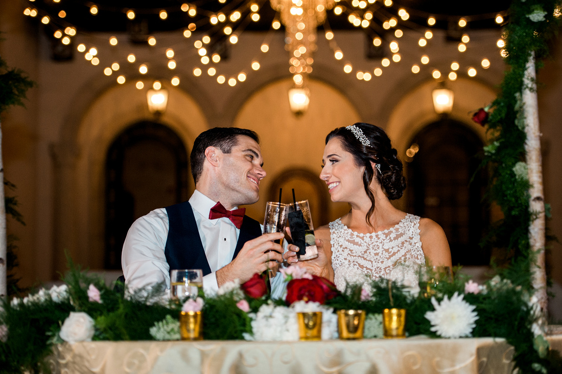 Wedding reception at Sarasota wedding venue, Powel Crosley Estate. Sarasota wedding photographer