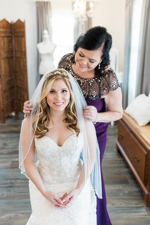 Blush Wishing Well Barn wedding