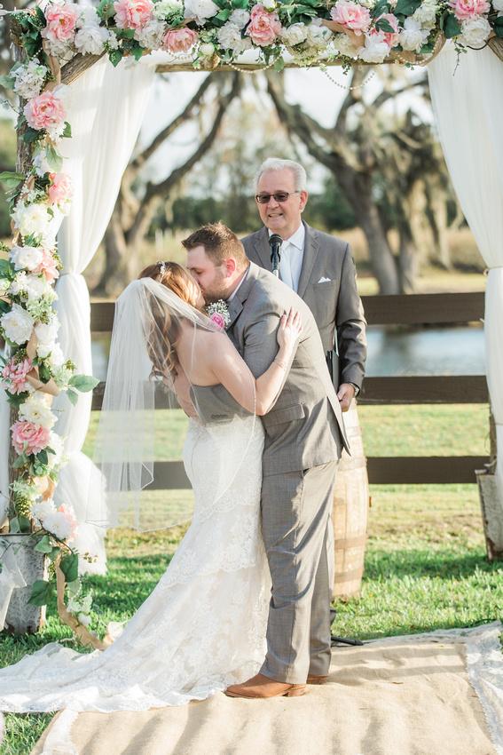 Wishing Well Barn wedding ceremony