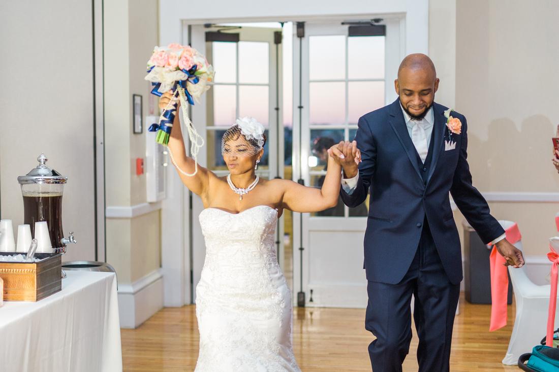 Colorful spring wedding reception at Tampa wedding venue, the Regent