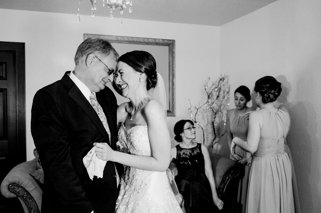Bride and Groom's wedding prep at Tampa area wedding venue, Bakers Ranch