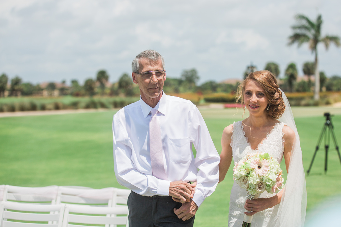 Destination Wedding ceremony at The Rookery At Marco Golf Club