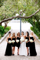 Jen and her bridesmaids in unique and stylish Alfred Angelo dresses.
