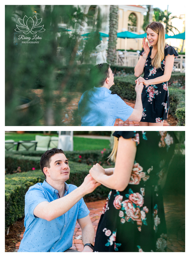 Proposal photographer at the Ritz, Sarasota engagement photographer