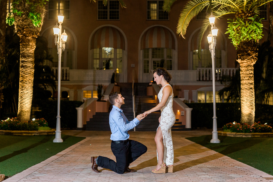 Don Cesar proposal photographer Rising Lotus Photography. St. Pete Beach engagement and proposal photographer