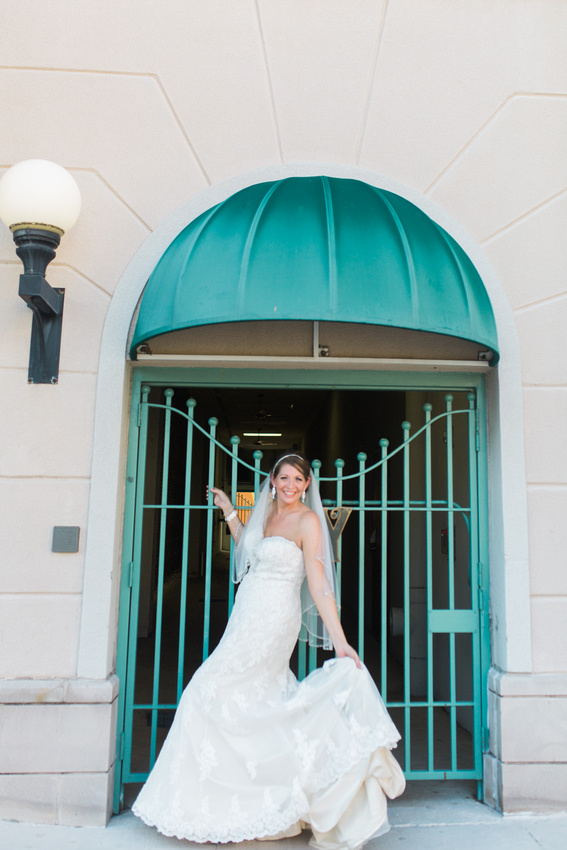 Italian Club Ybor City, Bride and groom photos. Tampa Wedding Photographer.