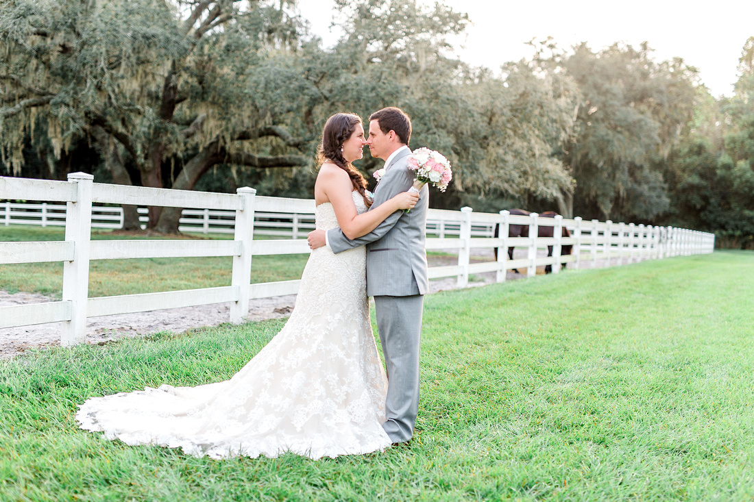 Newlyweds photos, The Lange Farm in Dade City, a wedding venue outside of Tampa Florida.