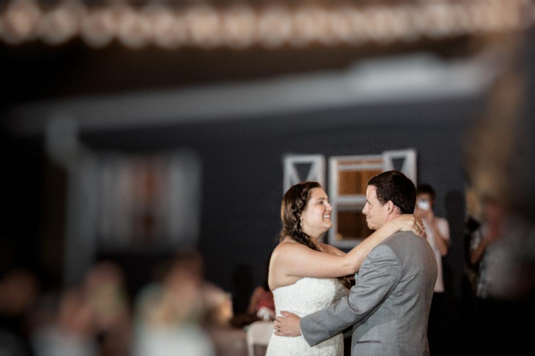 Rustic wedding reception at Tampa wedding venue, The Lange Farm's Antique Barn