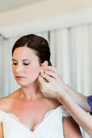 Bride and Groom prep for wedding day at  The Obici House. Virginia Wedding Photographer.