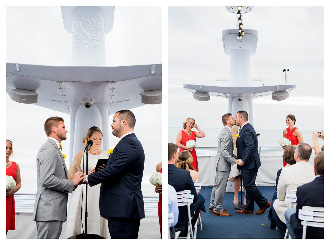 Same sex wedding ceremony took place aboard the Starship Yacht cruise in St. Petersburg