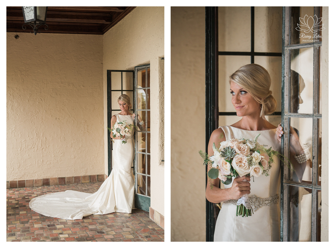 Lovely Alison poses for her bridal portraits before her wedding at the Powel Crosley Estate.