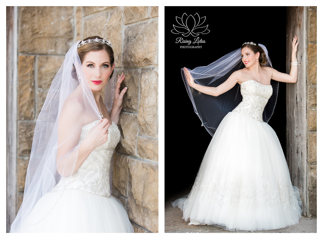 Bridal portraits taken at Wentworth Country Club.