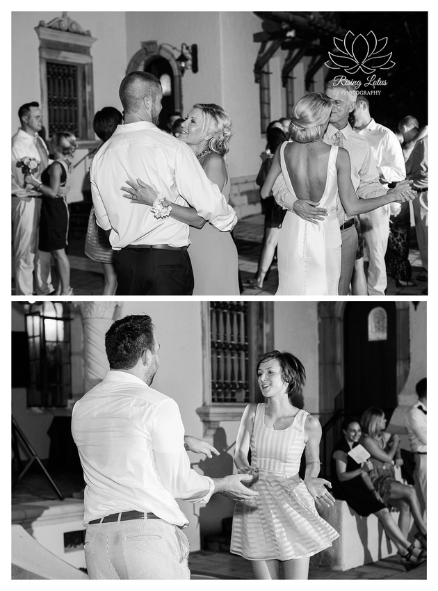 Newlyweds and their guests dance and have a great time during the wedding reception at Powel Crosley estate.