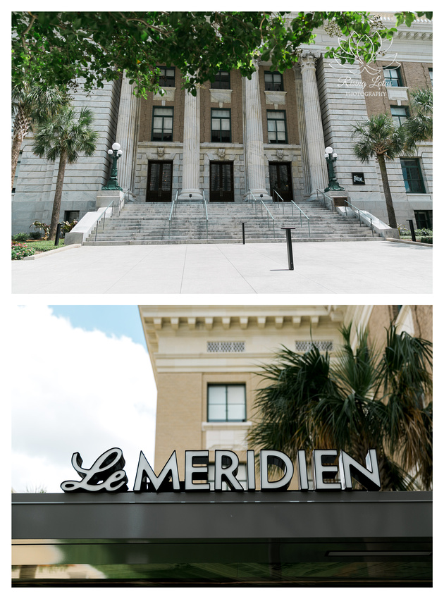 Exterior views of the Le Meridien Hotel in Tampa taken by Rising Lotus Photography.