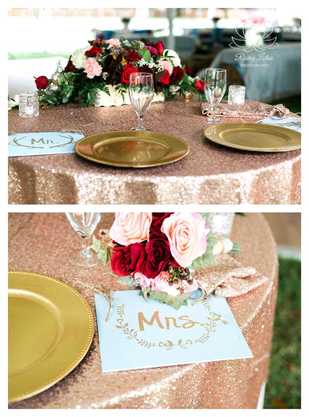 Photo of wedding reception decor at Casa Lantana