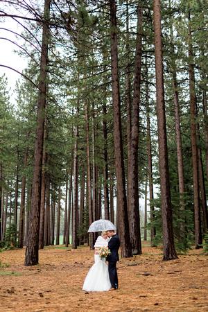 Newlyweds at Lake Tahoe wedding. Lake Tahoe wedding photography