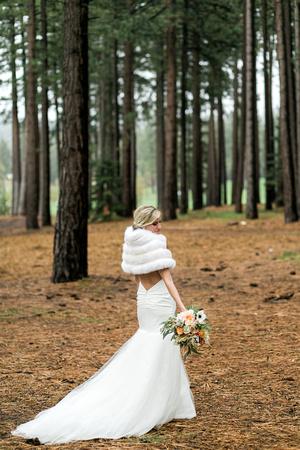 Bride and Groom on wedding day. Lake Tahoe Wedding.