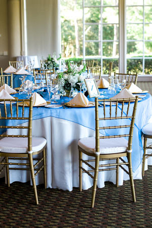 Hunter's green wedding reception. Tampa wedding photographer. Classic wedding details.