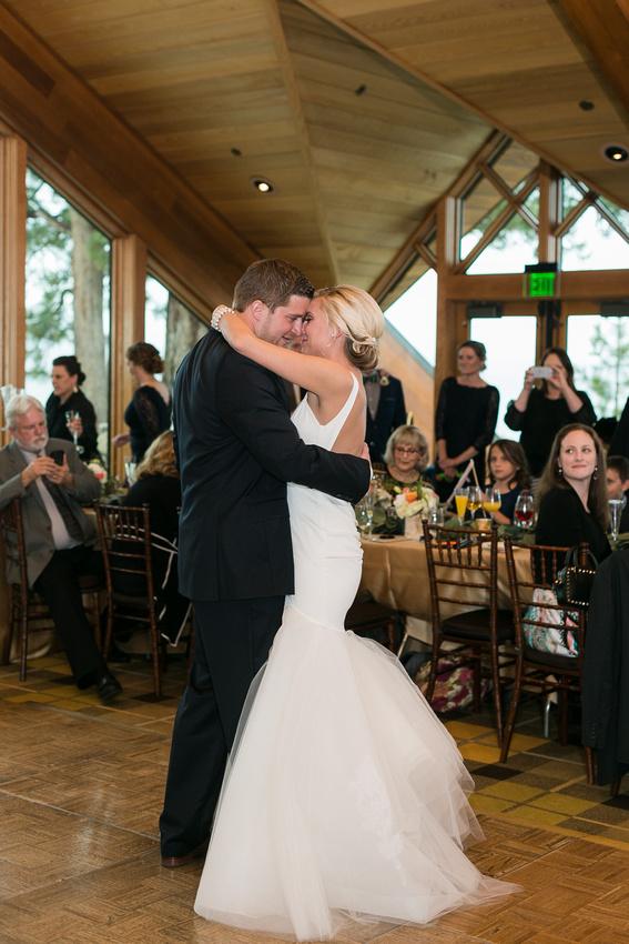 Lake Tahoe wedding reception. Lake Tahoe wedding photographer. Edgewood Tahoe
