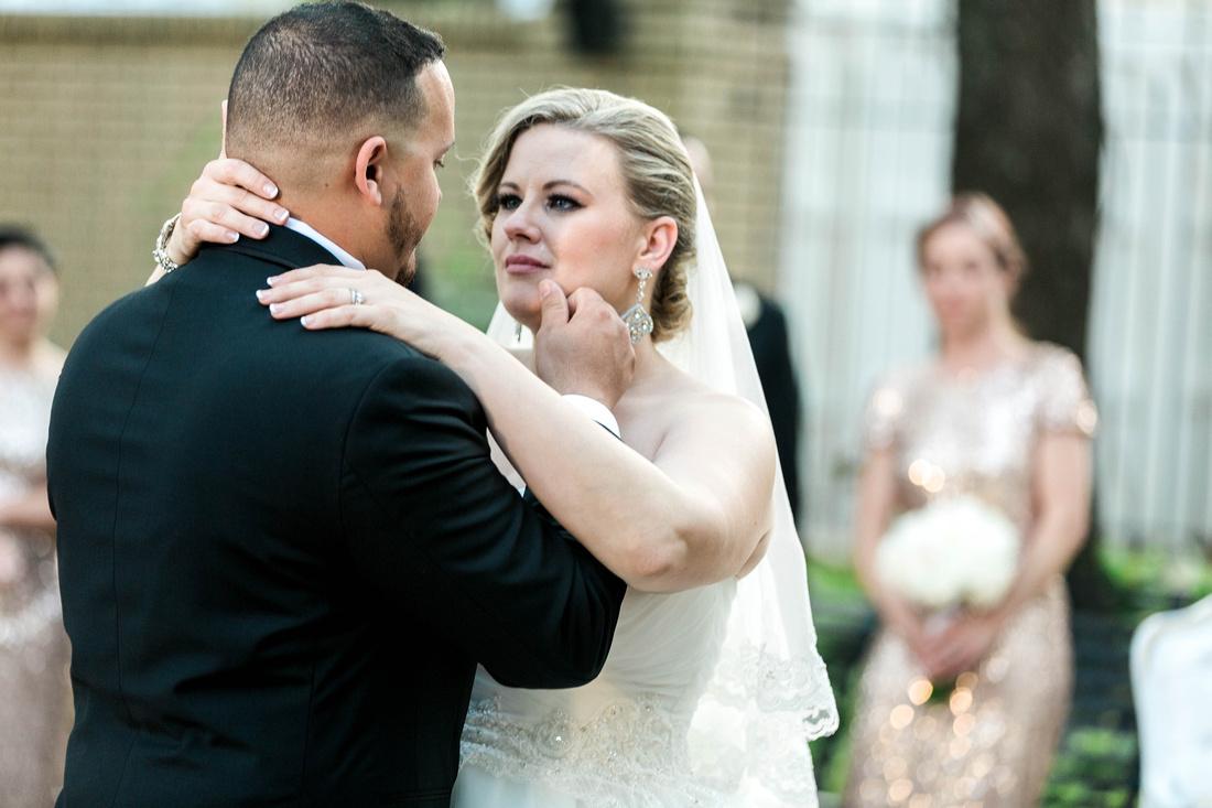 Ybor City Museum Gardens Wedding Reception. Bride and Groom. Newlyweds. Wedding Reception. Tampa Wedding Photographer.