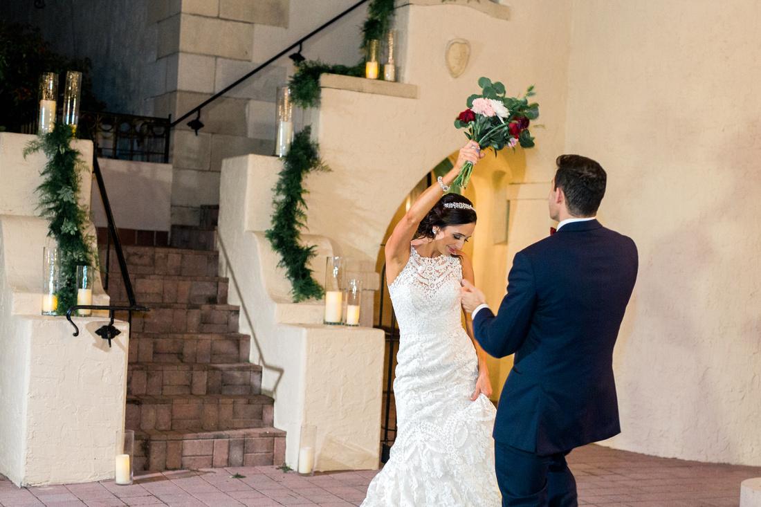 Wedding reception at Sarasota wedding venue, Powel Crosley Estate. Sarasota wedding photographer