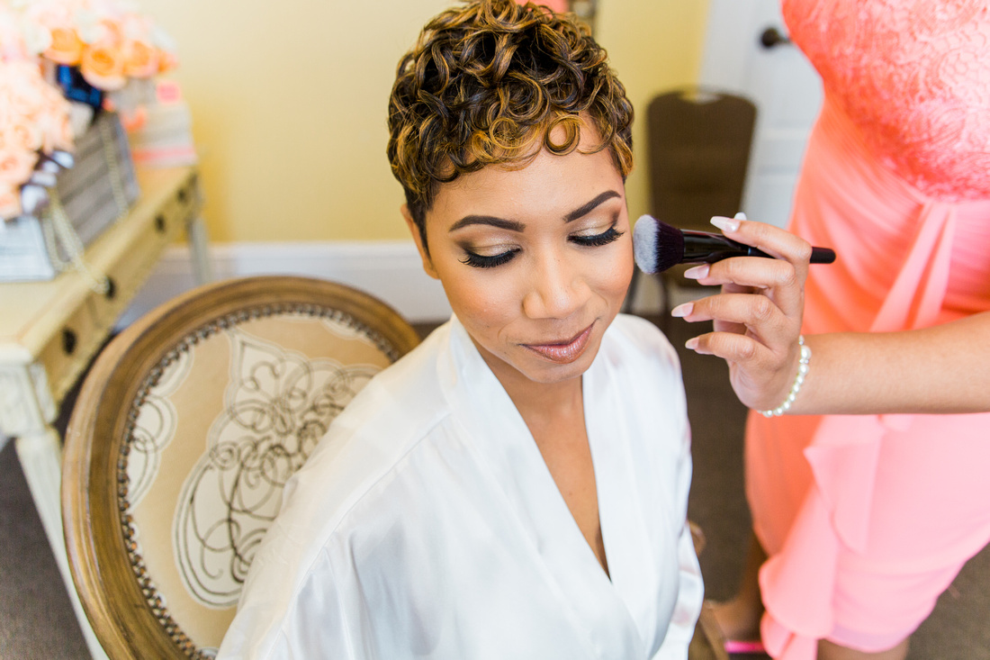 Bride and Groom prep on the wedding day at The Regent in Tampa