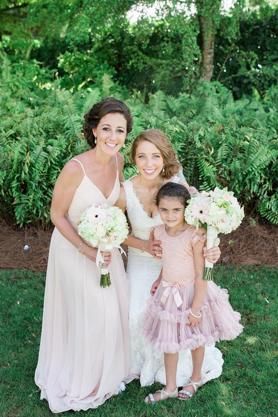 Destination wedding in Marco Island, bridal party photos