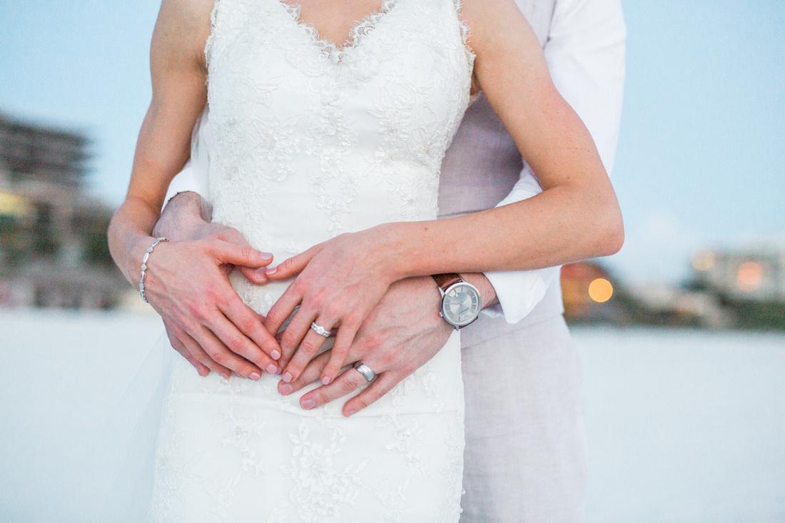 Destination wedding at JW Marriott Marco Island Beach Resort - newlywed portraits