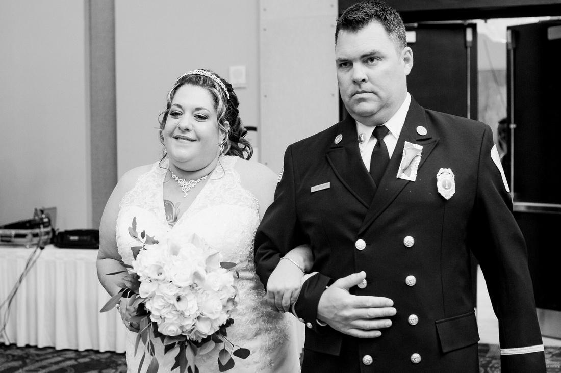 Indoor ballroom wedding at Crowne Plaza Tampa Westshore