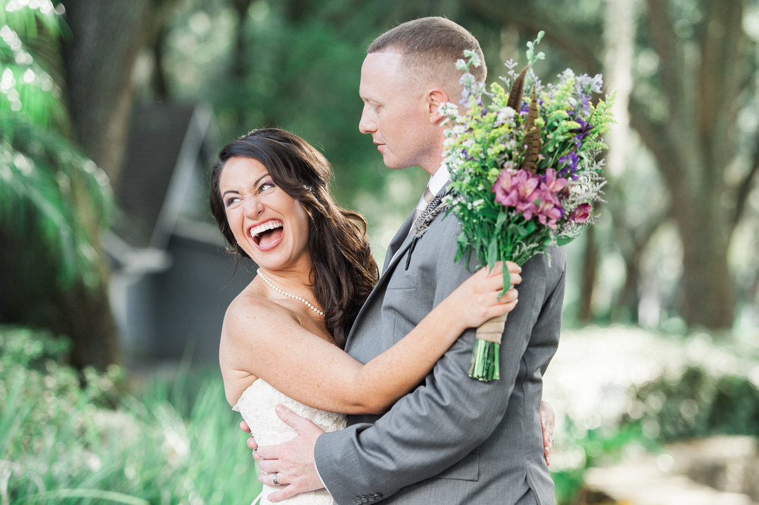 Bridal portraits at Lange Farm in Tampa. Tampa wedding, bride and groom photos.