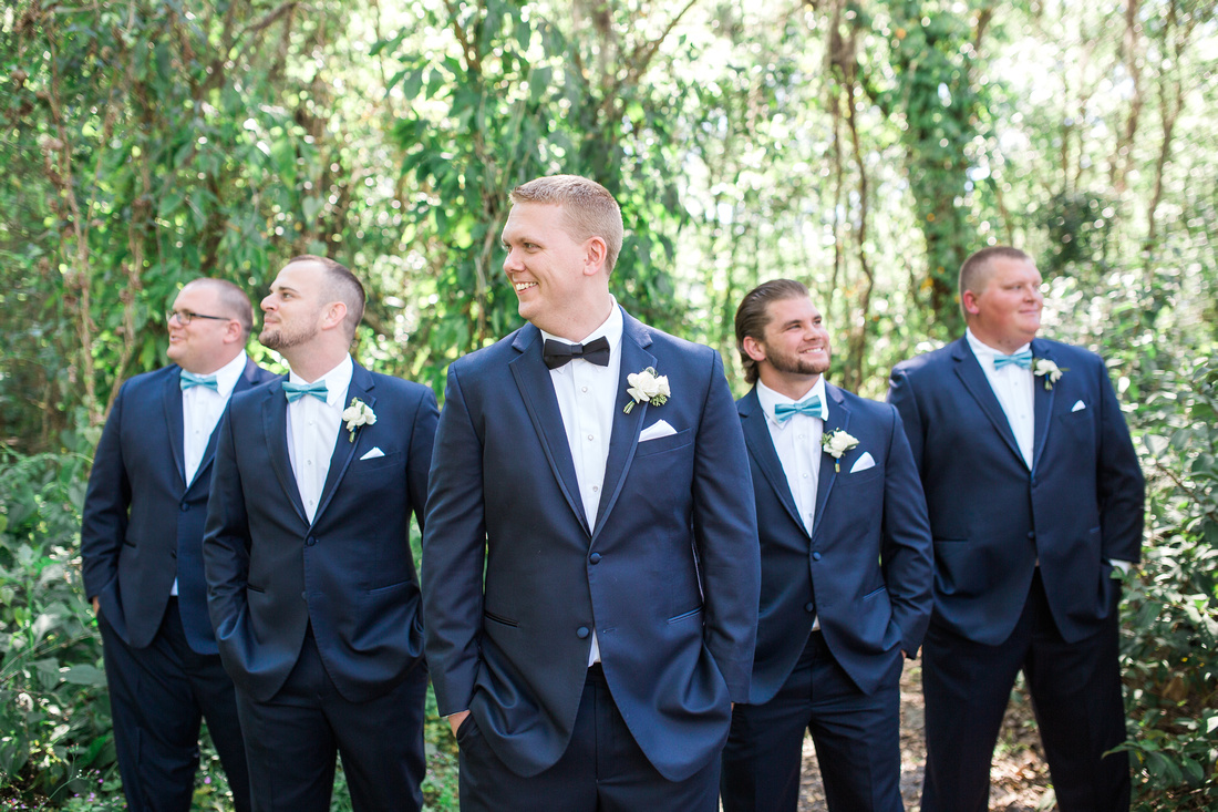 Bridal Party Photos at Bakers Ranch- blue and pink wedding attire