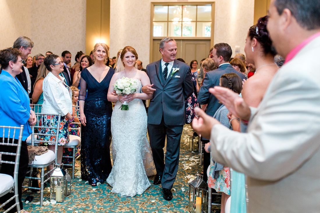The Palmetto Club at Fishhawk Ranch Wedding Ceremony. Tampa Wedding Photographer.