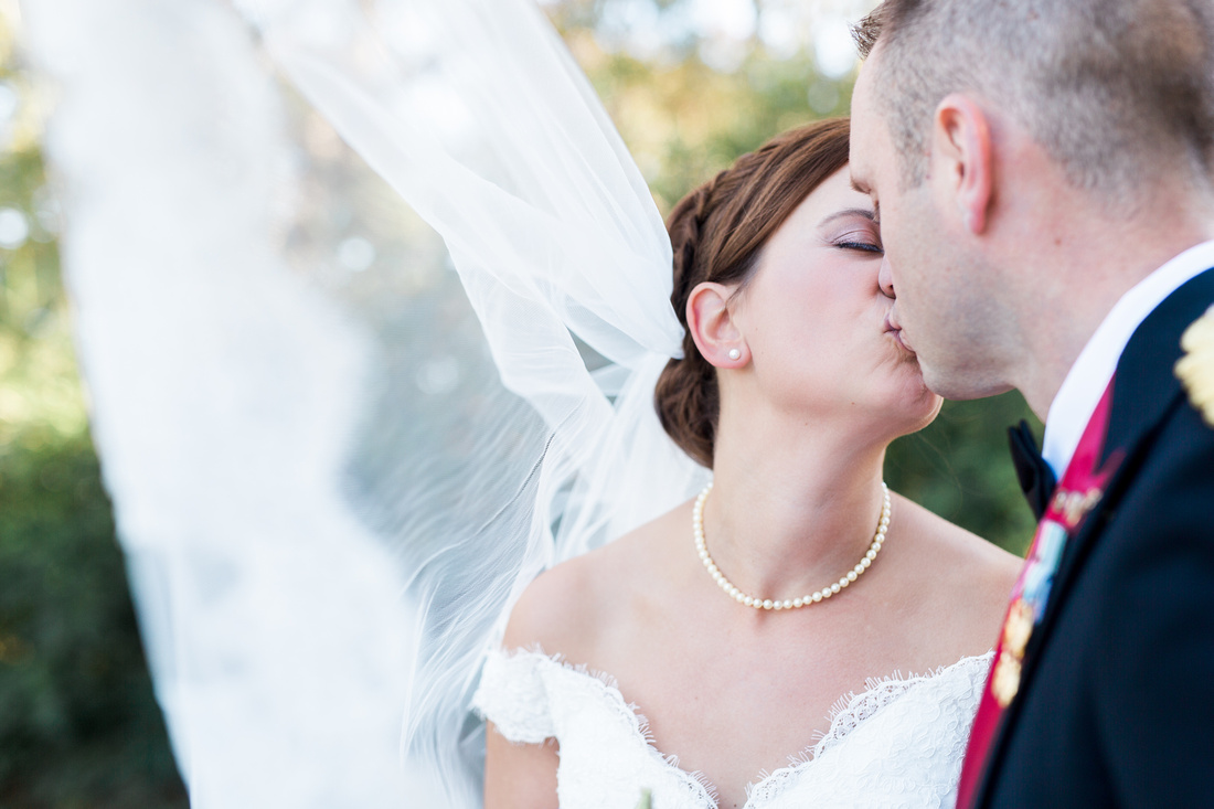Newlyed, bride and groom photos at The Obici House