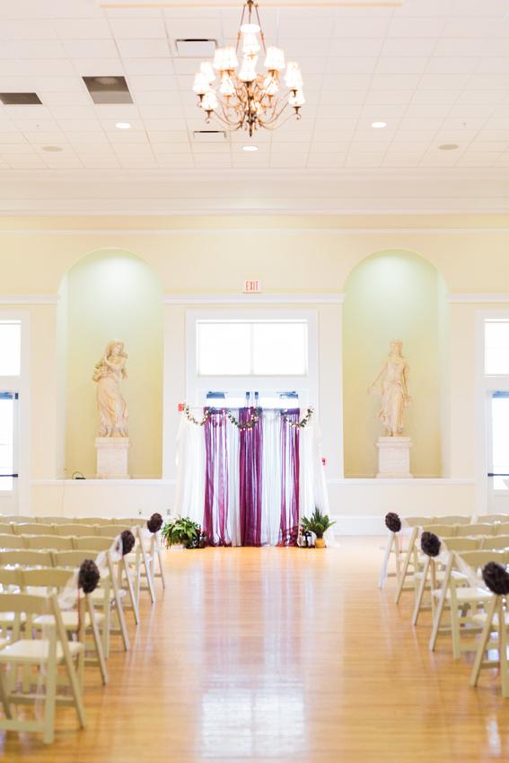 Tampa Wedding Venue. Red wedding details.