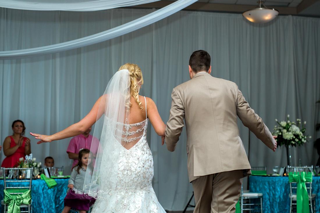 Destination wedding reception in Tampa