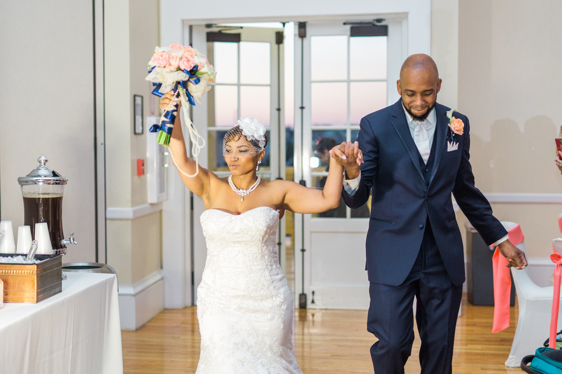 Colorful spring wedding reception at Tampa wedding venue, the Regent