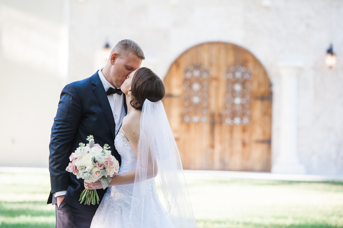 Newlyweds at Bakers Ranch Wedding