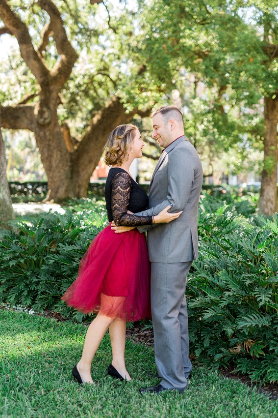Engagement photos at University of Tampa, Engagement photographer, Rising Lotus Photography