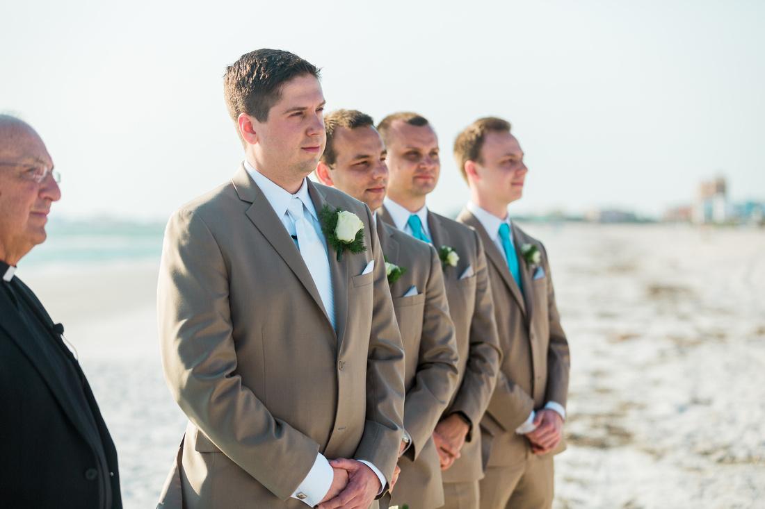 Beach wedding in Tampa, FL. Tampa Wedding Photographer. Destination wedding ceremony.