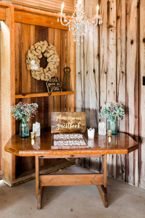Rustic barn weddings in Plant City, outside of Tampa,  at Wishing Well Barn wedding